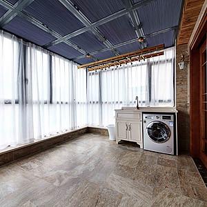 新中式洗衣房装修效果图