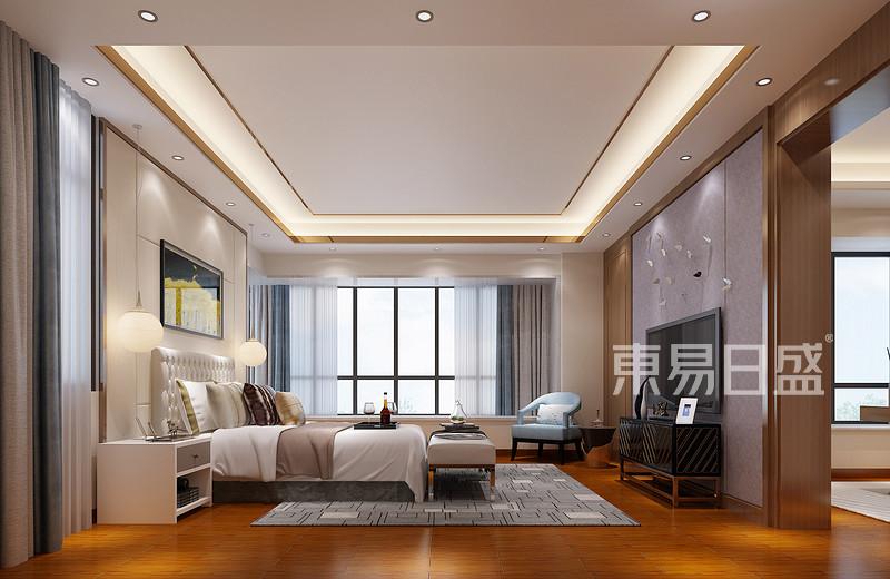 锦绣山河观园超大平层主卧室效果图