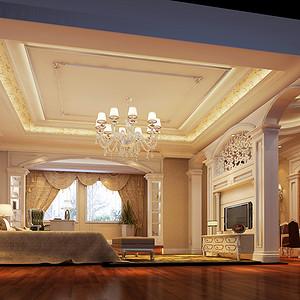 欧式古典风格 卧室装修效果图