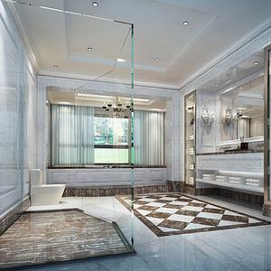 欧式古典风格 卫生间装修效果图