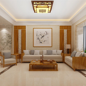 怡佳·天一城新中式220平米装修效果图