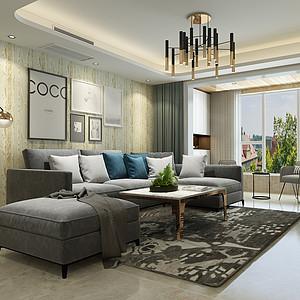红珊湾130平三室二厅现代简约风格装修案例