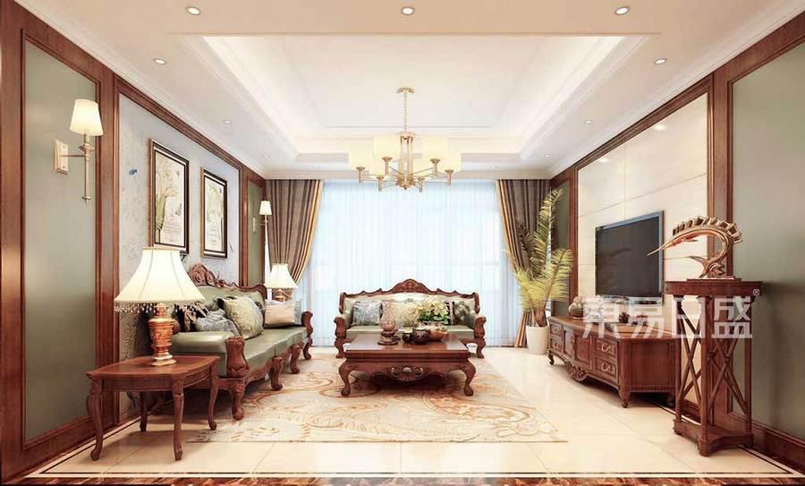 客厅大体量家具,营造大气的感觉