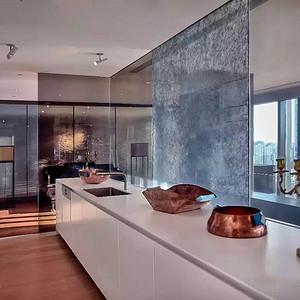 新中式-厨房-别墅装修效果图