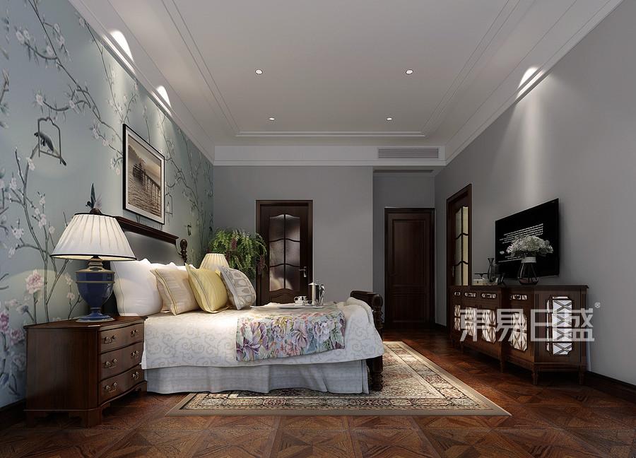 京基领墅美式风格三层卧室装修效果图