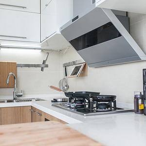 领秀智谷143㎡MUJI风厨房实景图
