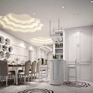 新古典装修风格 餐厅装修效果图