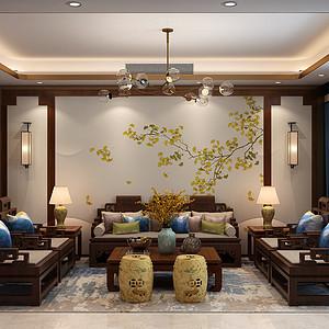 汇君城180㎡三室两厅新中式风格u装修案例