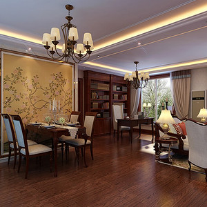 金地朗悦-新古典装修风格-150平米
