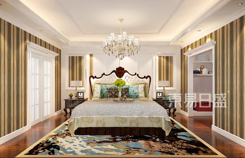林隐天下现代美式风格卧室装修案例效果图