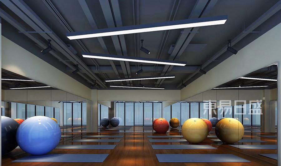 工业风健身俱乐部瑜伽房装修效果图
