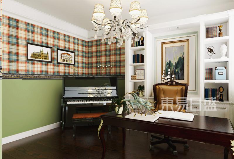 林隐天下现代美式风格书房装修案例效果图