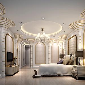 新古典装修风格 卧室装修效果图