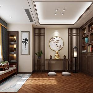 湘潭万境水岸350平新中式风格别墅