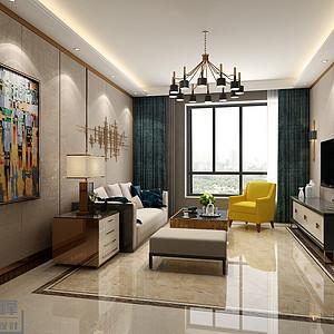北大资源新古典风格客厅装修效果图