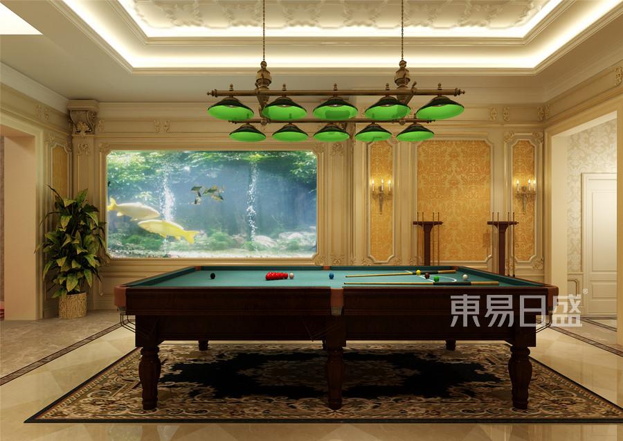 京基领域古典欧式台球室装修效果图