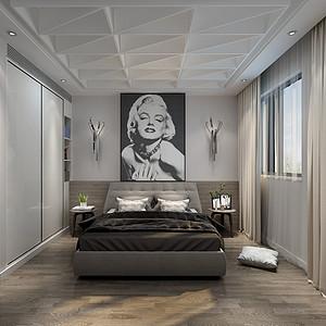 天鹅湖 混搭风格 卧室装饰图