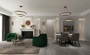 现代美式风格客厅装修设计