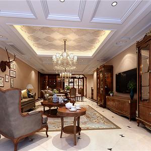 东方港城叠墅350平米美式风格