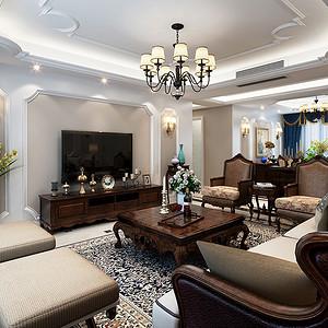 白桦林间 简美装修效果图 四室两厅 155平米