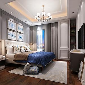 虎门法式公寓-法式轻奢风格-109㎡-装修平面效果图