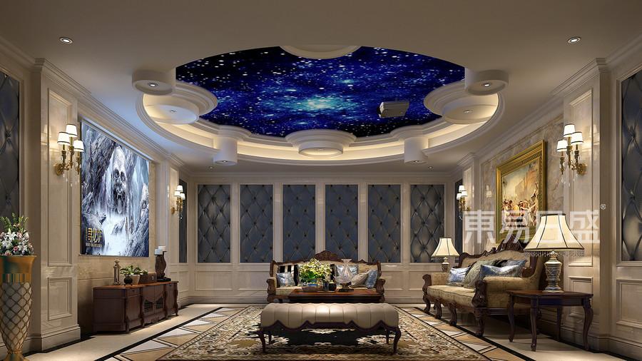 400㎡别墅欧式风格影视厅效果图