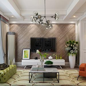 林荫大院110平三室二厅现代简约风格装修案例