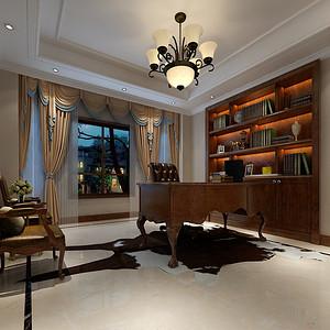 美式古典风格书房