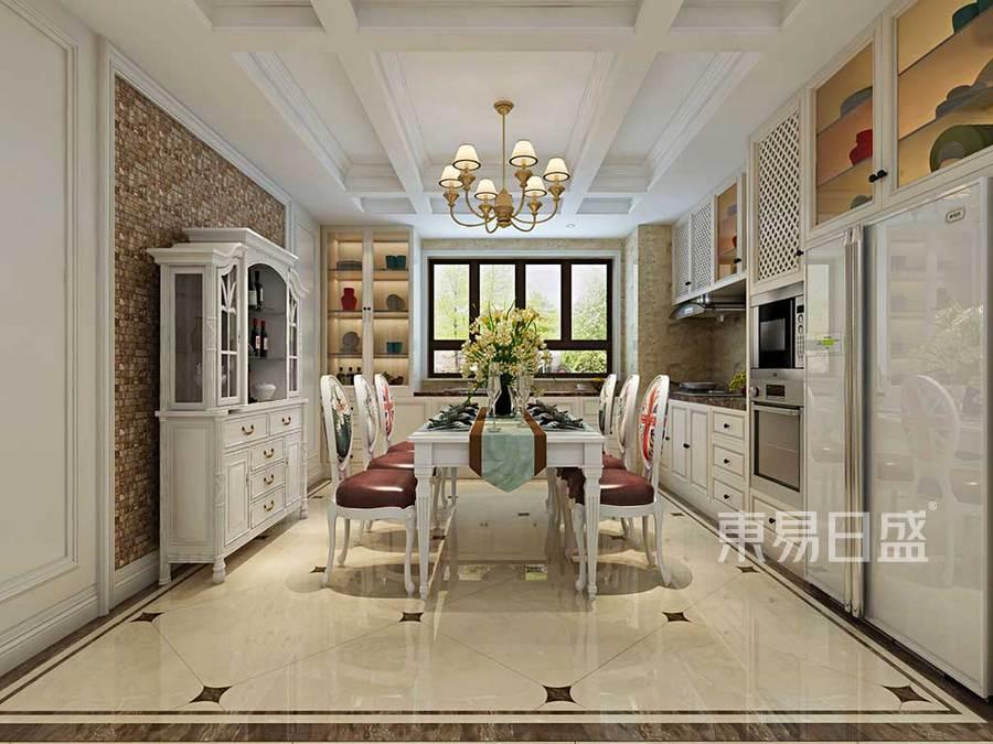 餐厅米白色家具,增加空间浪漫气息