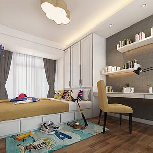 新鸿基珑汇三房卧室风装修效果图