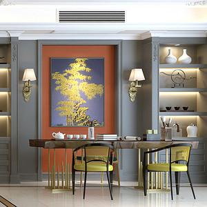 美式风格茶室效果图