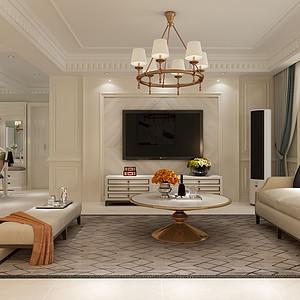 天海誉天下 三室二厅 简欧风格装修案例