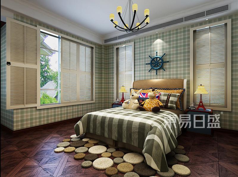欧式古典 - 二楼卧室效果图:背景墙白色护墙板造型