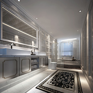 新古典风格 卫生装修效果图 独栋别墅