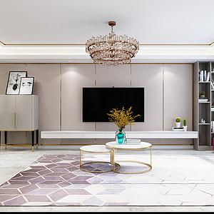 现代简约风格-客厅-装修效果图