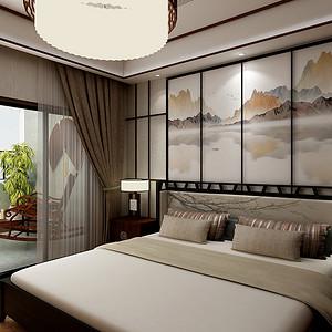 三居室-新中式-卧室