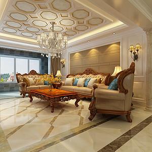 盛邦大都会180平三室二厅新古典风格装修设计