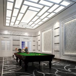 新古典风格 桌球装修效果图 独栋别墅