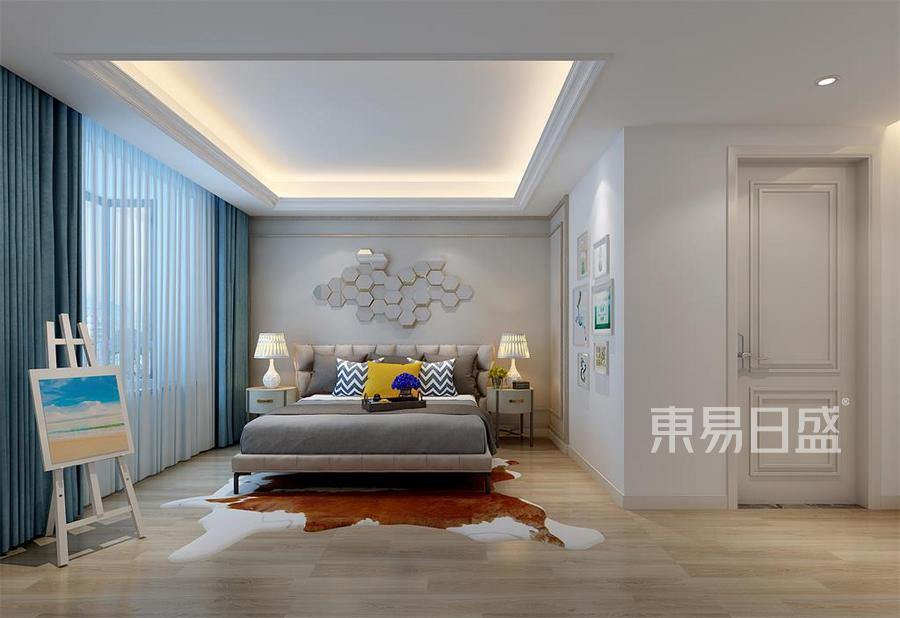 怡海花园 120平 中式 卧室效果图