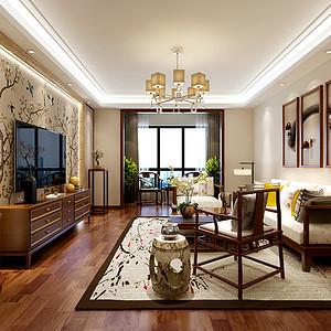 中建国熙台 新中式风格 三室两厅 131㎡