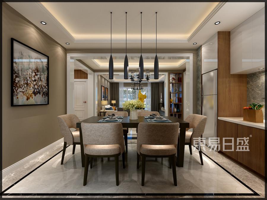 清华大溪地现代典雅风格餐厅