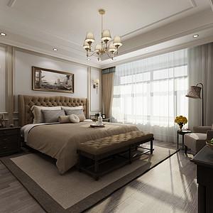 白桦林居简美卧室装修效果图