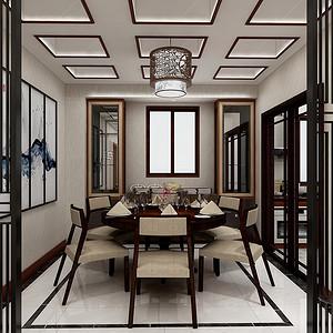 三居室-新中式-餐厅