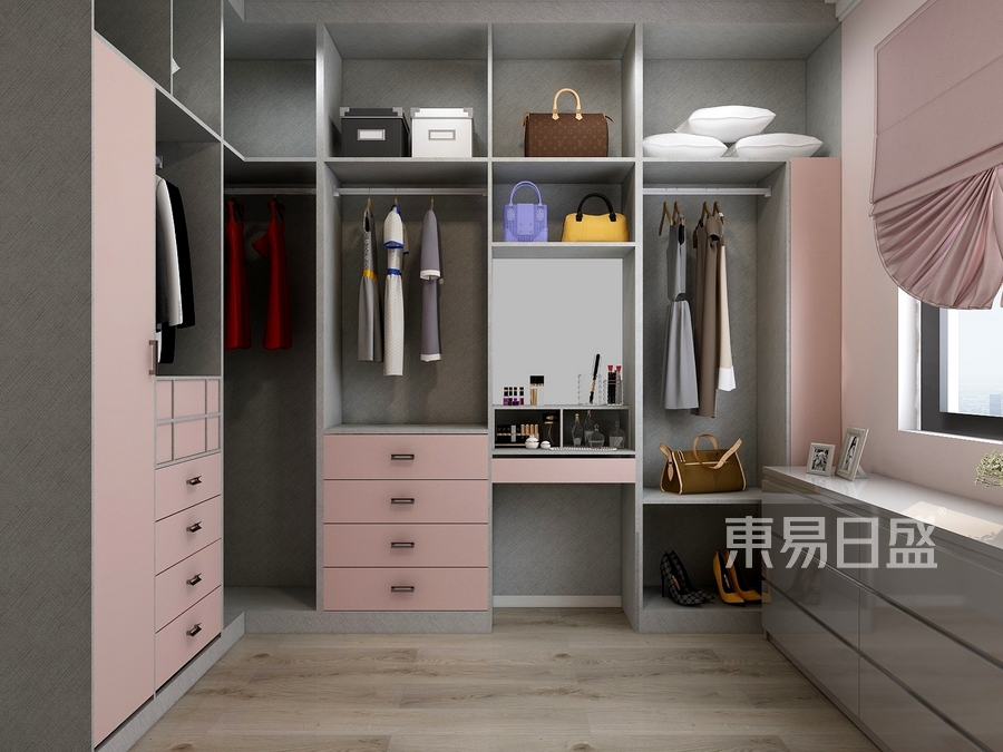 普通住宅-北欧设计案例-衣帽间装修效果图