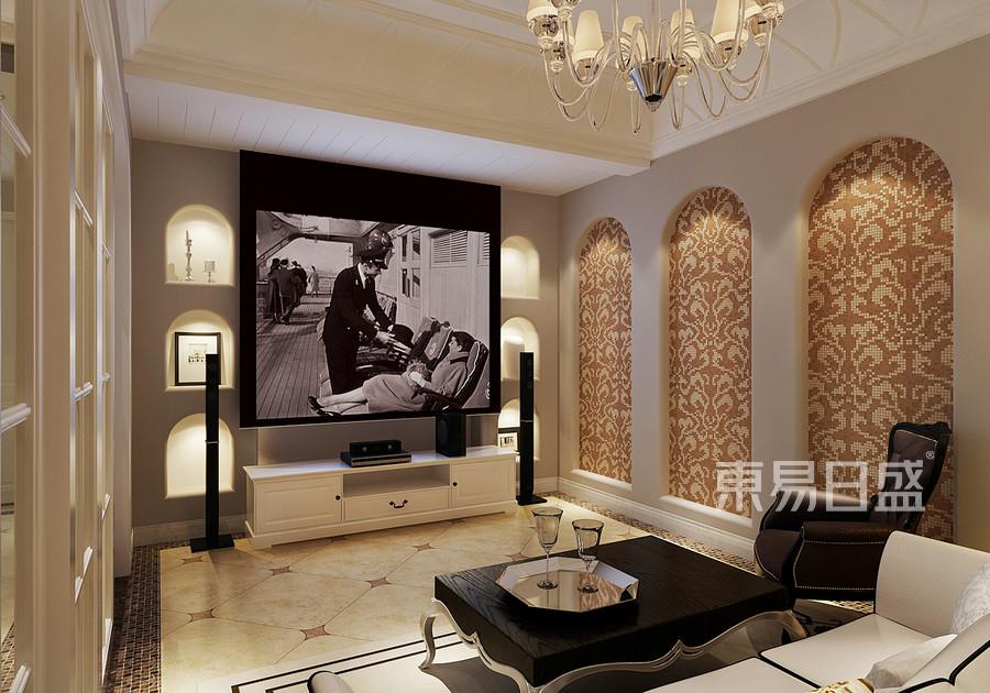 360㎡别墅混搭风格视听室装修效果图