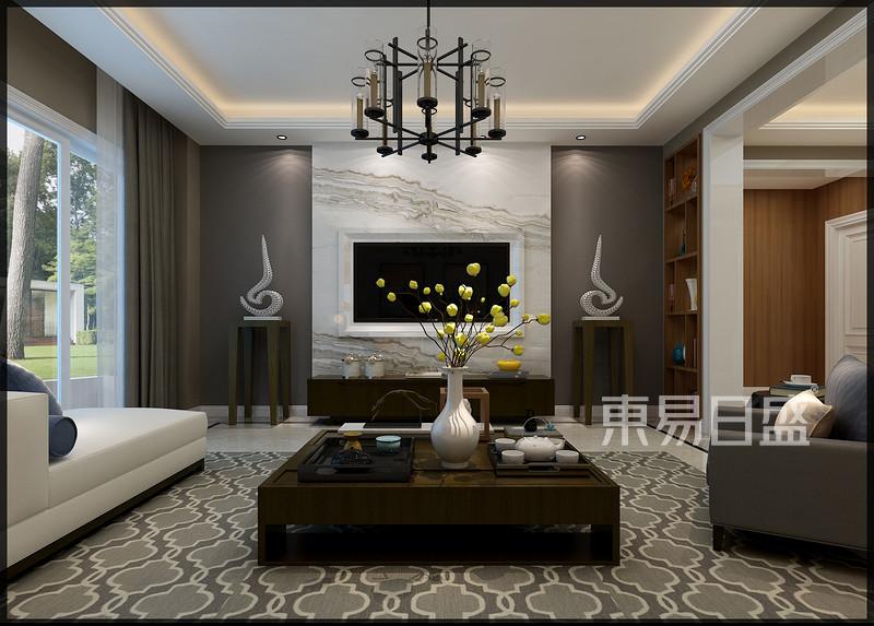 清华大溪地现代典雅风格客厅