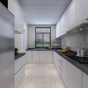 九龙湖一号现代简约风格厨房装修效果图