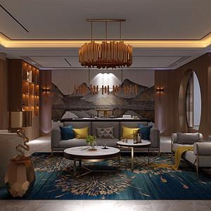 紫禁壹号院500平米现代中式风格
