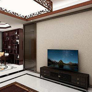 三居室-新中式-客厅
