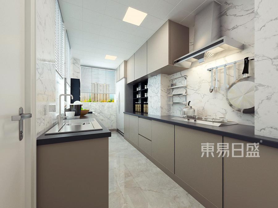 首开国风琅樾三室两厅轻奢厨房装修效果图